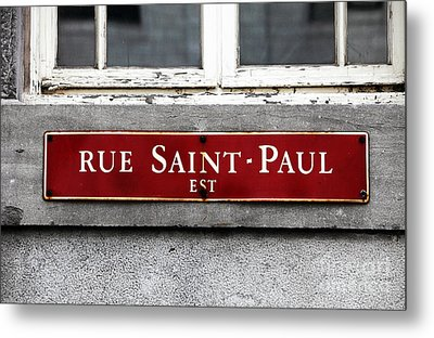 Rue Saint-paul Metal Print by John Rizzuto