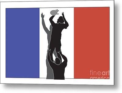 Rugby France Metal Print by Aloysius Patrimonio