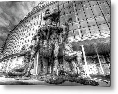 Rugby League Legends Statue Wembley  Metal Print
