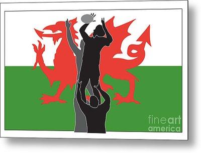 Rugby Wales Metal Print by Aloysius Patrimonio
