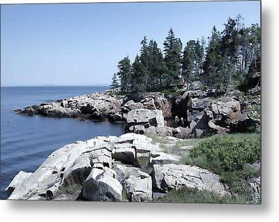 Rugged Maine Coastline Metal Print by Daniel Hagerman