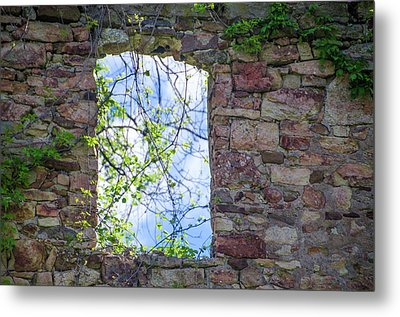 Metal Print featuring the photograph Ruin Of A Window - Bridgetown Millhouse  Bucks County Pa by Bill Cannon