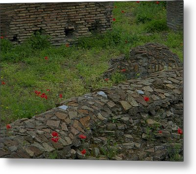 Metal Print featuring the photograph Ruins In Rome by Manuela Constantin