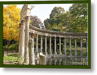 Metal Print featuring the photograph Ruins In The Park by Victoria Harrington