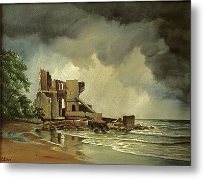 Ruins Near Kenosha Metal Print by Paul Krapf