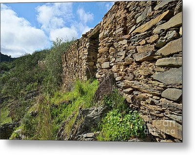 Ruins Of A Schist Cottage In Alentejo Metal Print by Angelo DeVal