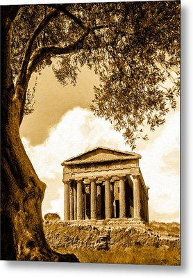 Ruins Of Ancient Agrigento Metal Print by Mark E Tisdale