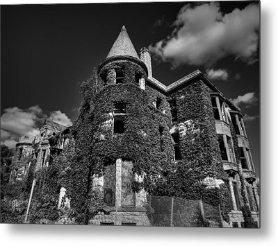 Ruins Of Detroit 001 Bw Metal Print