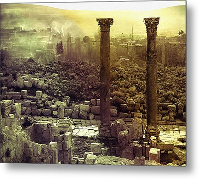 Metal Print featuring the photograph Ruins Of Jurash by Robert G Kernodle