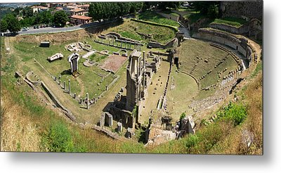 Ruins Of Roman Theater, Volterra Metal Print by Panoramic Images