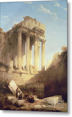 Ruins Of The Temple Of Bacchus Metal Print by David Roberts