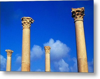 Ruins Roman Columns At Timgad Metal Print by Roman School