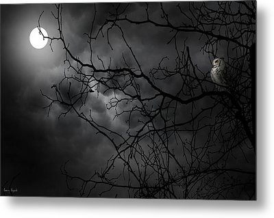 Ruler Of The Night Metal Print by Lourry Legarde