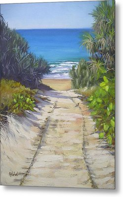 Metal Print featuring the painting Rules Beach Queensland Australia by Chris Hobel