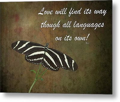 Rumi Quote-11 Metal Print by Rudy Umans