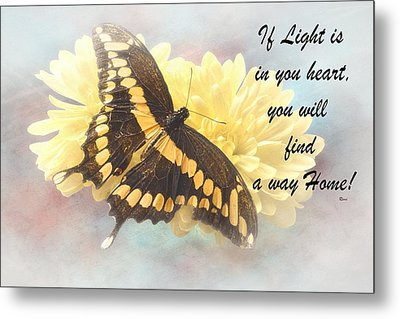 Rumi Quote-7 Metal Print by Rudy Umans