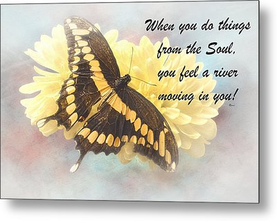 Rumi Quote-9 Metal Print by Rudy Umans
