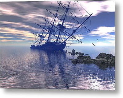Metal Print featuring the digital art Run Aground by Claude McCoy