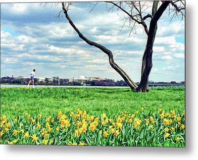 Run Along The Potomac Metal Print by Allen Beatty