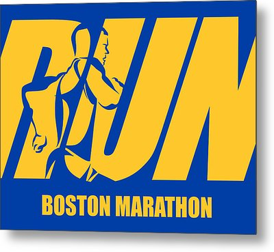Run Boston Marathon Metal Print by Joe Hamilton
