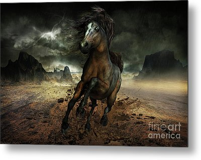 Run Like The Wind Metal Print by Shanina Conway