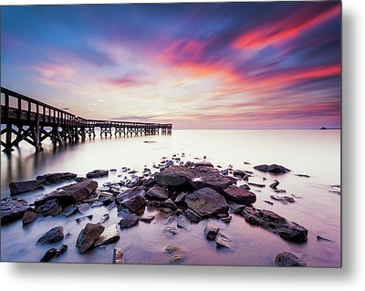 Metal Print featuring the photograph Run To The Sun by Edward Kreis