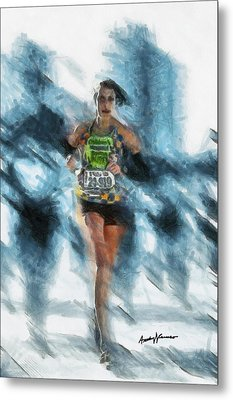 Runner Metal Print by Anthony Caruso