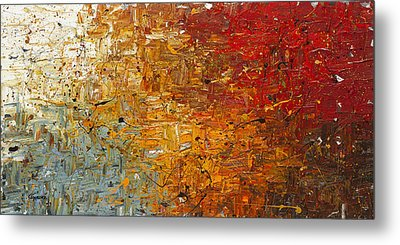 Metal Print featuring the painting Running Free - Abstract Art by Carmen Guedez