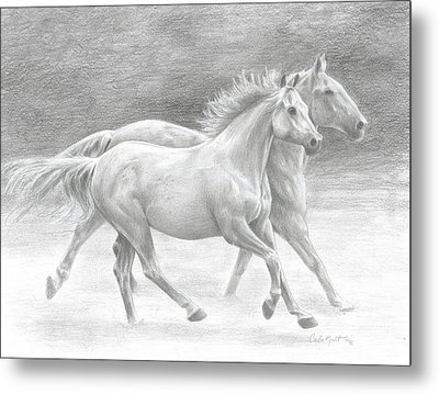 Running Free Metal Print by Carla Kurt
