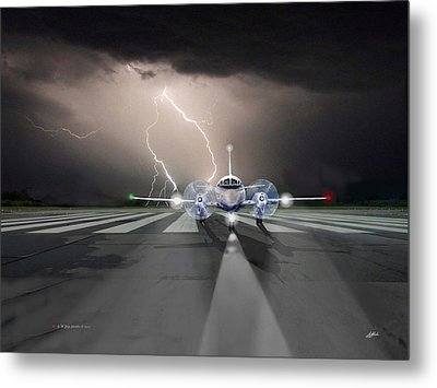 Running From The Storm Metal Print by G Jay Jacobs