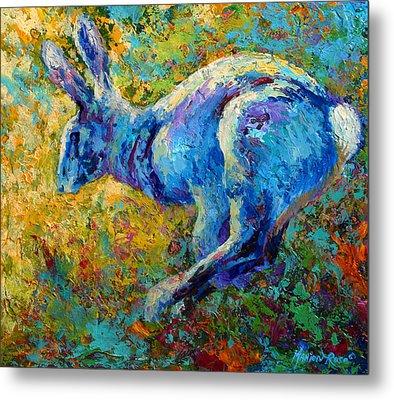 Running Hare Metal Print