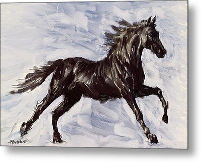 Running Horse Metal Print by Richard De Wolfe