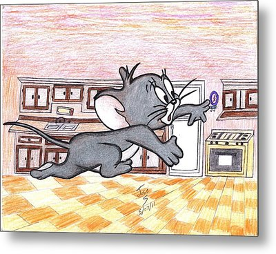Running Little Mouse  Metal Print by Jose humberto Arvizo orozco