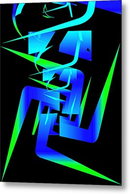 Running Man Metal Print