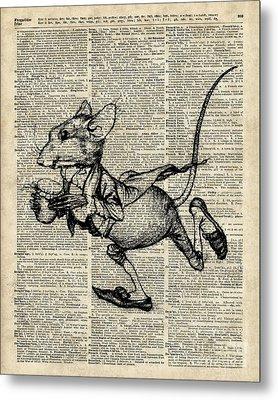 Running Mouse Metal Print