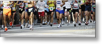Running The Race Metal Print