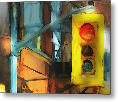 Running The Red Metal Print by Bob Salo