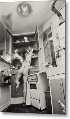 Running Through The Kitchen Metal Print by Philippe Taka