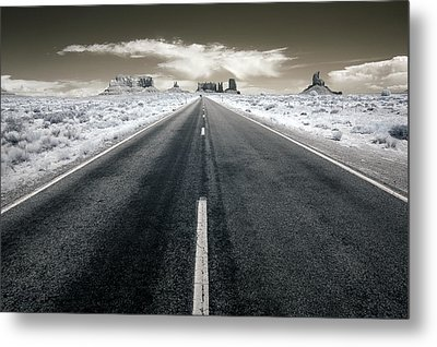 Running To The Edge Of The World Metal Print