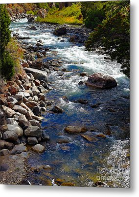 Metal Print featuring the photograph Running Water by Robert Pearson
