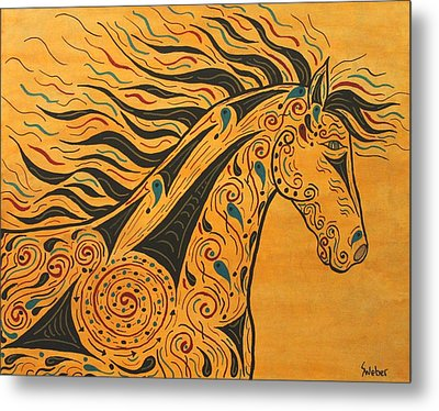 Runs With The Wind Metal Print by Susie WEBER