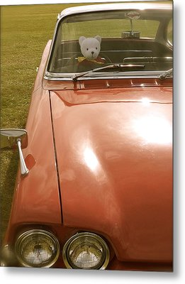 Rupert Bear Out For A Drive Metal Print