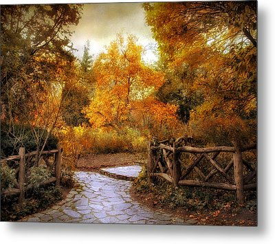 Rural Autumn Entrance Metal Print by Jessica Jenney
