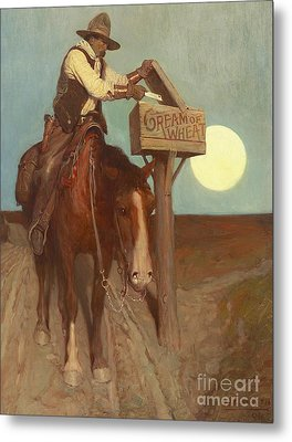 Rural Delivery Metal Print by Newell Convers Wyeth