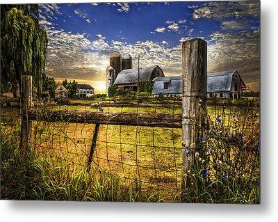 Rural Farms Metal Print by Debra and Dave Vanderlaan