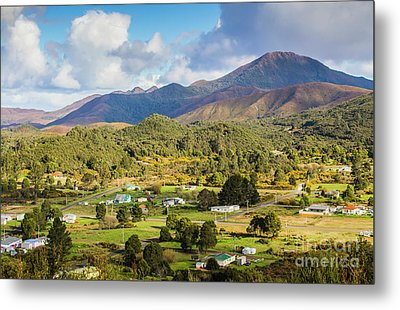Rural Landscape With Mountains And Valley Village Metal Print by Jorgo Photography - Wall Art Gallery