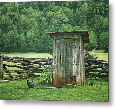 Metal Print featuring the photograph Rural Outhouse by Nikolyn McDonald