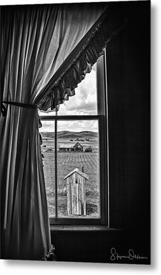 Rural Outhouse - Signed Limited Edition Metal Print by Steve Ohlsen