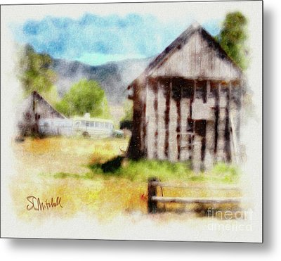 Rural Remnants Metal Print by Stephen Mitchell