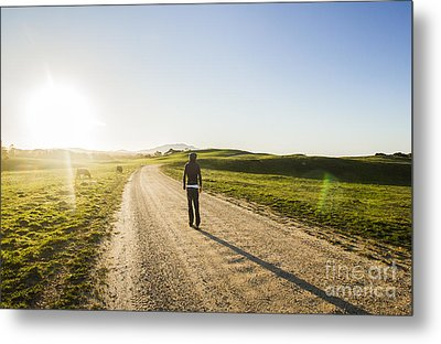 Rural Road Traveller Metal Print by Jorgo Photography - Wall Art Gallery